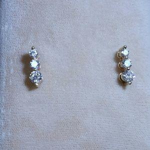 Jewelry - Pair 14 kt Diamond Drop Earrings